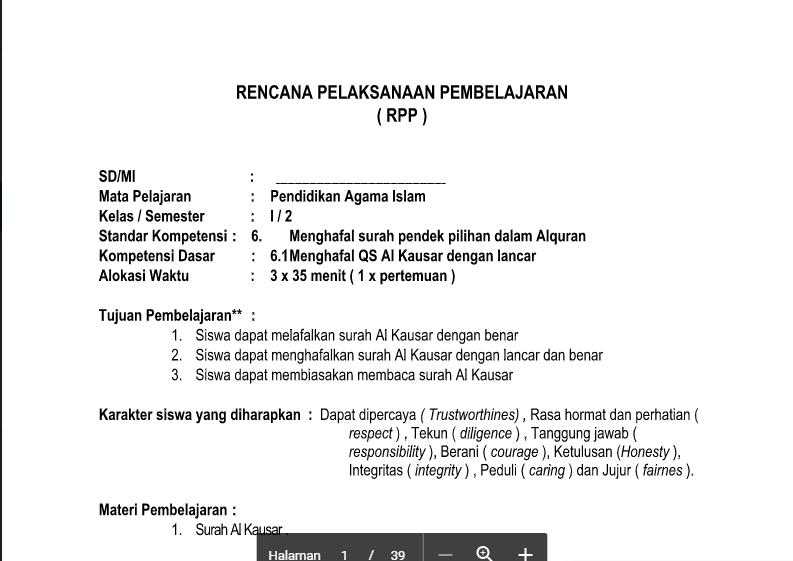 Download Rpp Pai Kls 1 2 3 4 5 6 Sd Mi Semester 2 Kurikulum 2013 Revisi Tahun 2017 Contoh Rpp Kurikulum 2013 Sd Smp Sma