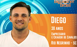 Instagram e Facebook do Diego do Big Brother Brasil