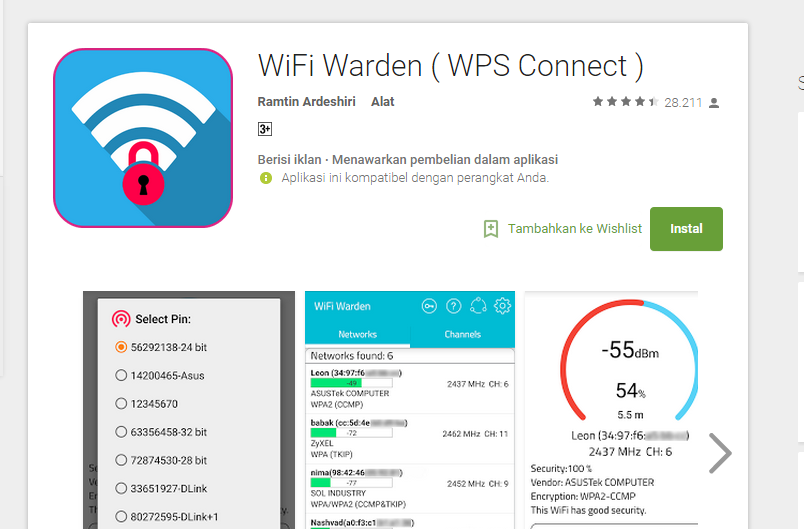 Cara Membobol Wifi Lewat Android Tanpa Root dengan Wifi Warden