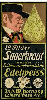 Historische Werbung für Filder Sauerkraut von 1904