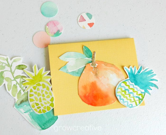 Watercolor Fruit Cut-outs and cards