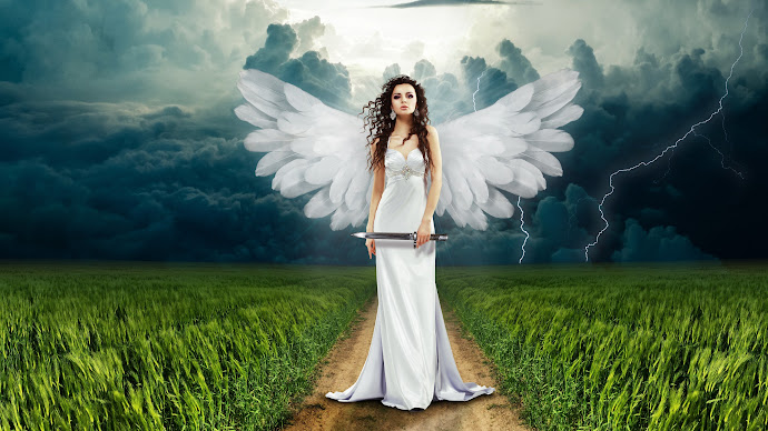 Wallpaper: The Angel from Photoshop