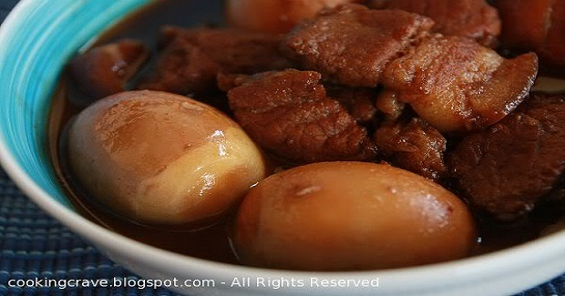Simmered Pork Belly in Dark Soy-Sauce With Boiled Eggs  Recipe