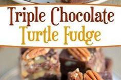 TRIPLE CHOCOLATE TURTLE FUDGE