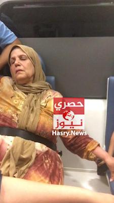 صور زوجة اللواء السابق مدحت الدولجي في سيارة الاسعاف بعد الاعتداء عليها