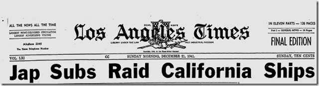Los Angeles Times, 21 December 1941 worldwartwo.filminspector.com
