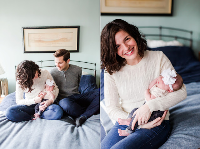 One month old images with a beautiful NW DC family, photos by Heather Ryan Photography
