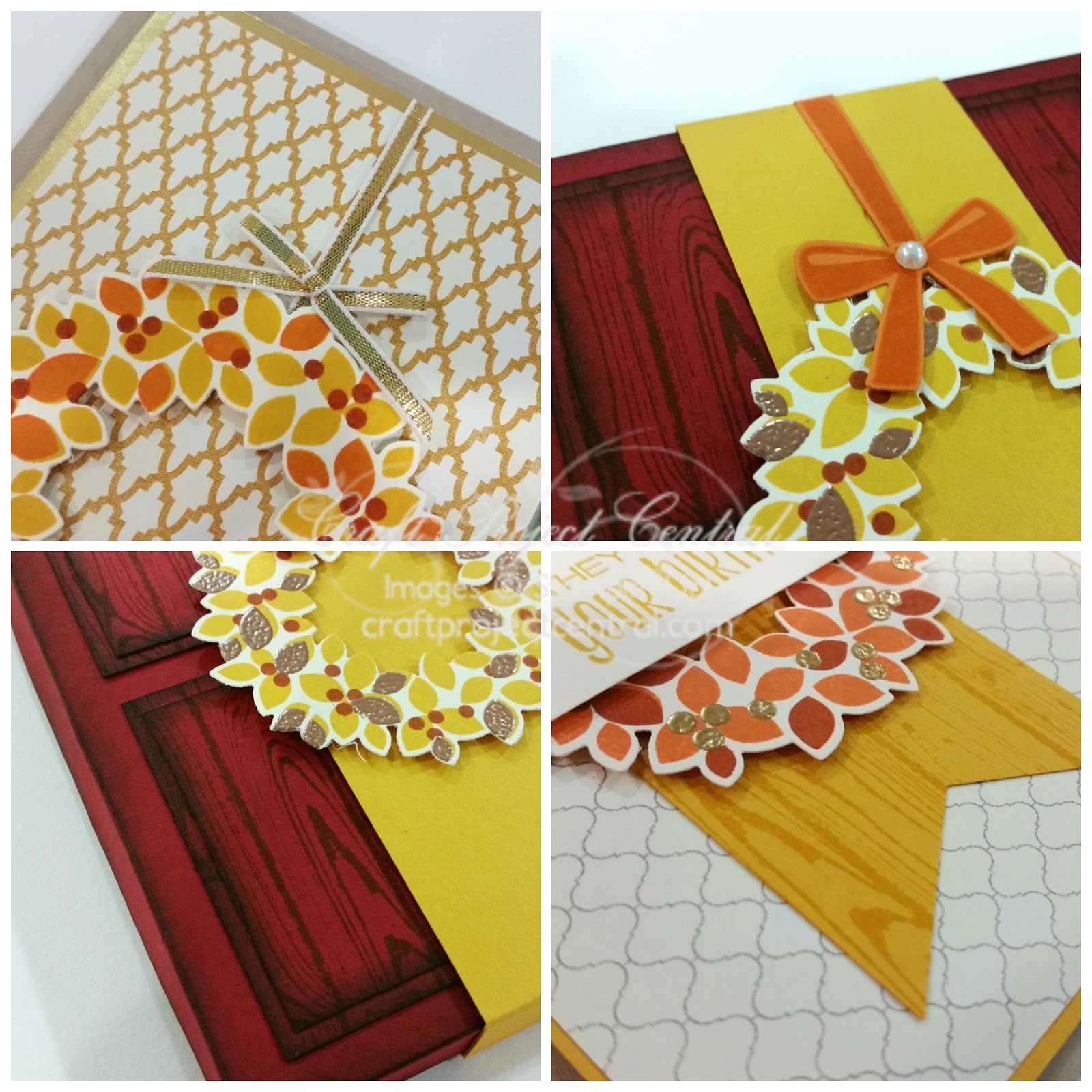 Krafting kreations autumn wreath greeting card box set this would make a quick and easy class project or hostess gift make one to gift to a friend or keep it just for yourself kristyandbryce Gallery