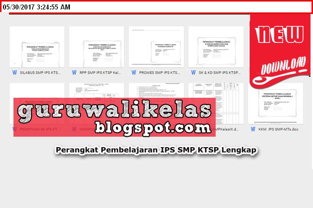 Download Perangkat Pembelajaran Ips Smp Ktsp Lengkap Rpp Silabus Kkm Promes Prota Sk Kd