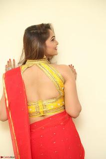 Actress Ashwini in Golden choli Red saree Spicy Pics ~  098.JPG