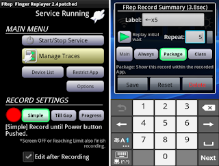 FRep - Finger Replayer App