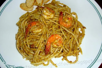 Shrimp+and+Aligue+Pasta - Easy Dinner Recipe For Two - She Cooked Seafood Pasta