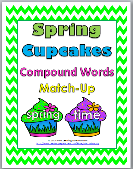 http://www.teacherspayteachers.com/Product/Spring-Cupcakes-Compound-Words-Matching-Activity-1155736