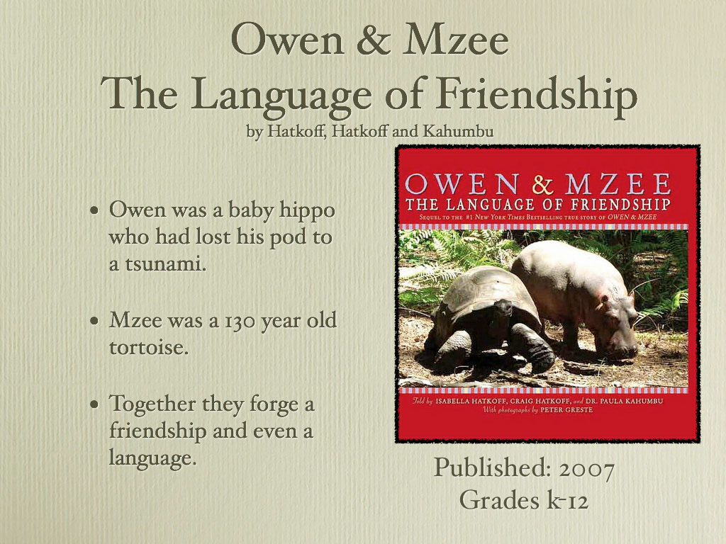 Young Adult Reading Machine Owen Amp Mzee The Language Of