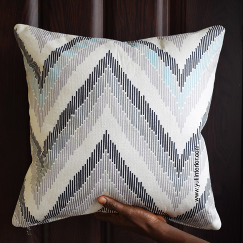 Cream Chevron Throw Pillow