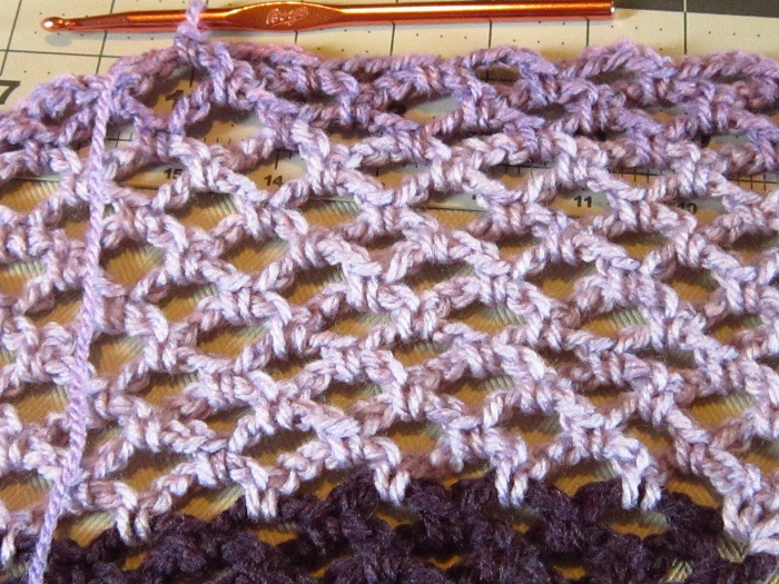 yarn, Caron Cakes, crochet, shawl, WIP