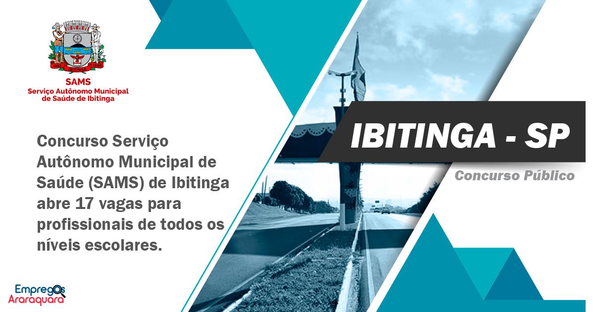 Concurso SAMS de Ibitinga - SP 2019 n° 01/2019
