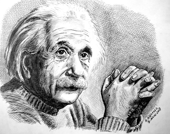 Roberto Bizama Diaz - Portrait painter | Albert Einstein 1879-1955