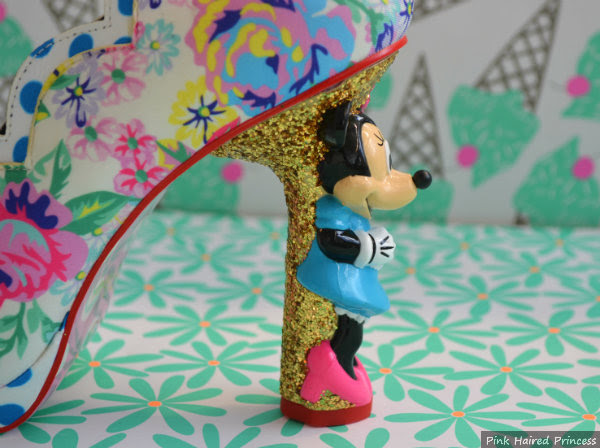 minnie mouse heel side detail