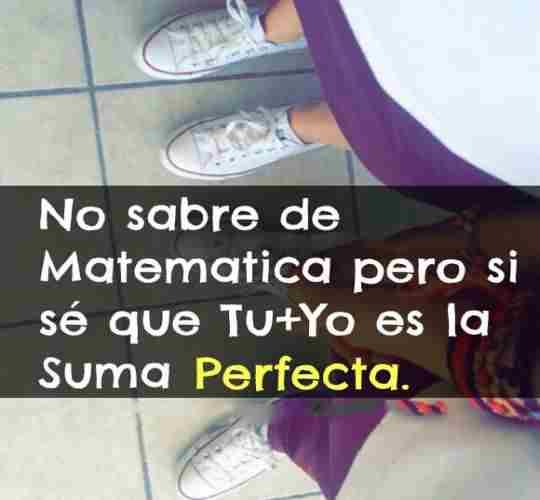 Suma perfecta: tu y yo