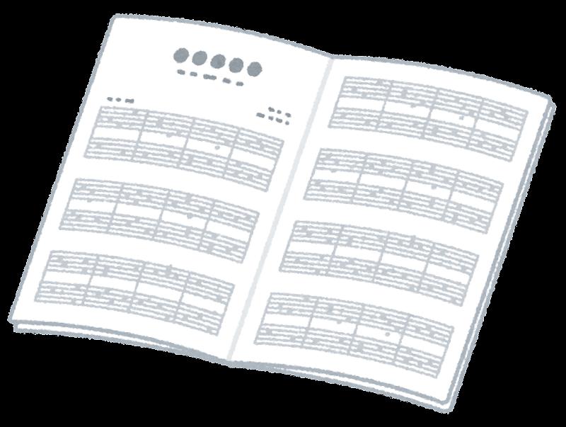 楽譜のイラスト開いた状態 かわいいフリー素材集 いらすとや