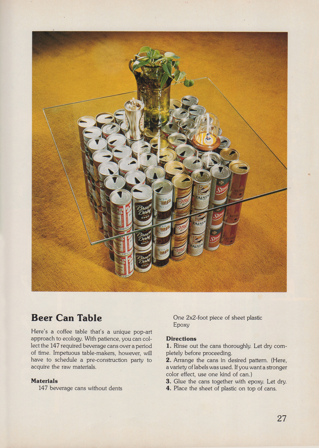 Velveteen Lounge Kitsch En Yes You Can Beer Can Home Decor