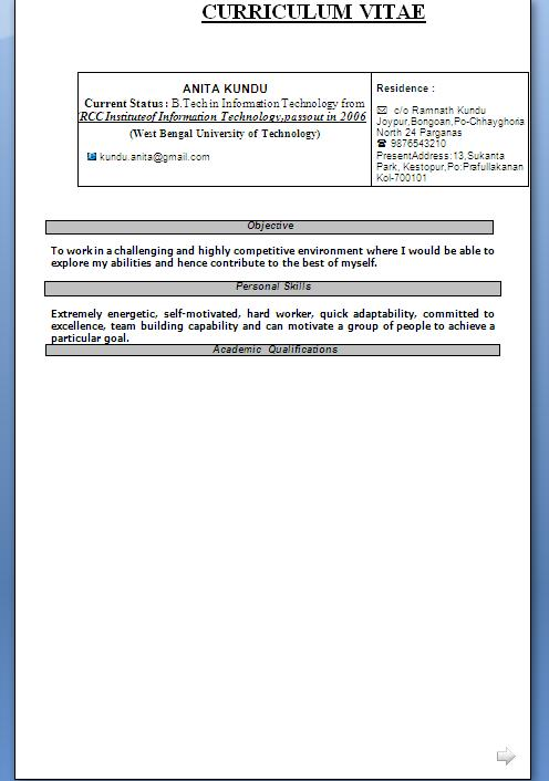 cvs resume free download