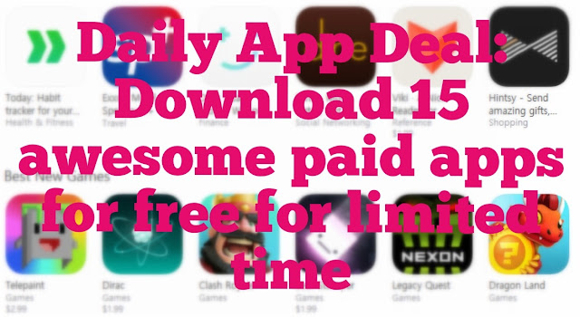 Everyone likes to download free apps but most of the apps are little expensive, so we bring you a daily app deals for you to download these awesome paid apps for free for iPhone