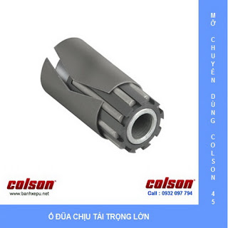 Bánh xe cao su dùng ổ đũa Colson phi 125 | 4-5108-459 www.banhxepu.net