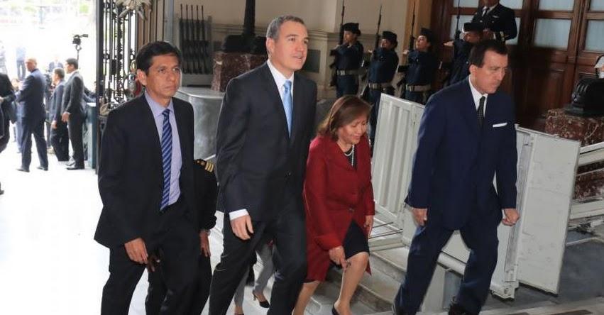 Gobierno formaliza cuestión de confianza al Congreso de la República
