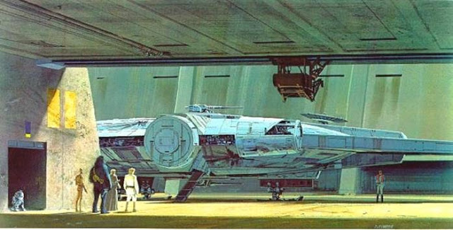 docking bay millennium falcon art