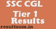 SSC CGL Tier 1 Exam Result 2015