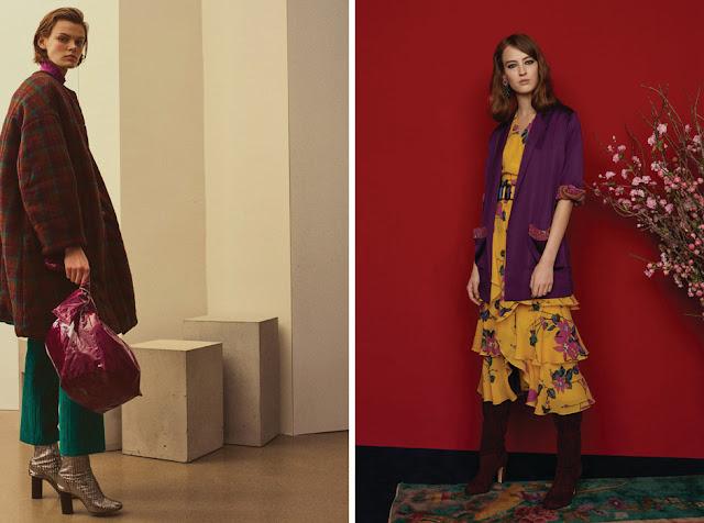Сочетание изумрудного и ягодного и бордового, и желтого и фиолетового в одежде