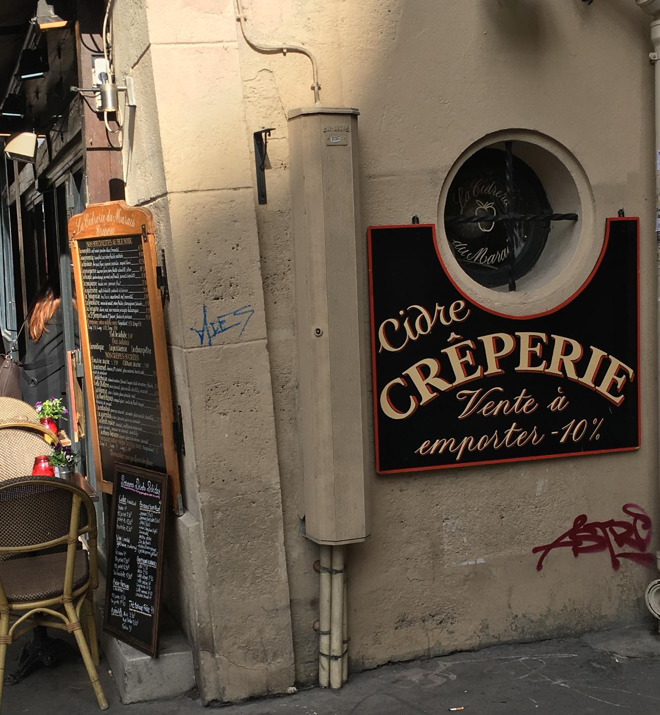 Paris restaurant Cidre Creperie