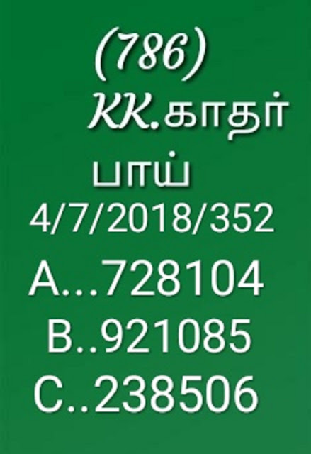 kerala lottery abc all board guessing by KK on 04-07-2018 akshaya AK-352