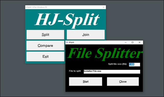 برنامج HJSplit لتقسيم الملفات الكبيرة