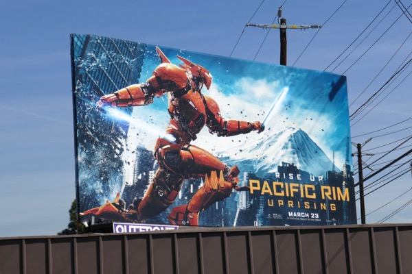 Saber Athena Pacific Rim Uprising billboard