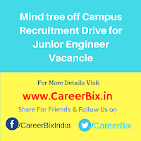 Mind tree off Campus Recruitment Drive for Junior Engineer Vacancies