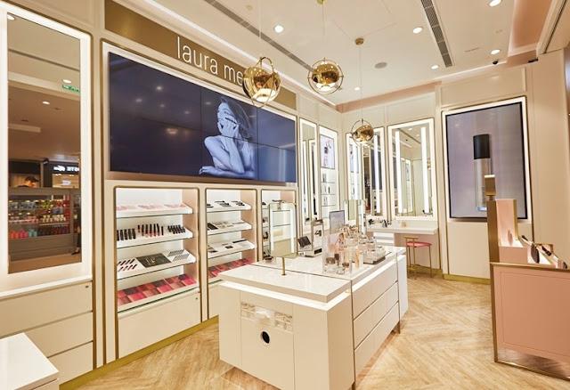 Laura Mercier, Laura Mercier Malaysia, First New Concept Store, Pavilion Kuala Lumpur, Bar Counters, Flawless Face, Laura Mercier Flawless Face, Makeup Service Bar, Lip Bar, Glorifier Tower, Face Bar