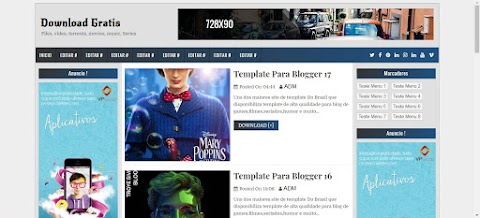 Download Blogger Template 3 colunas