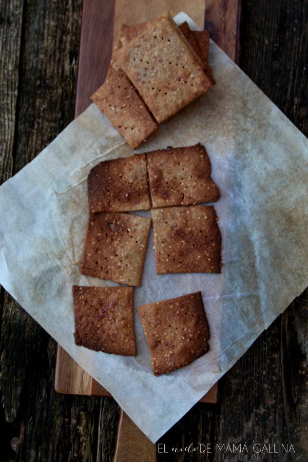 crackers de quinoa y centeno