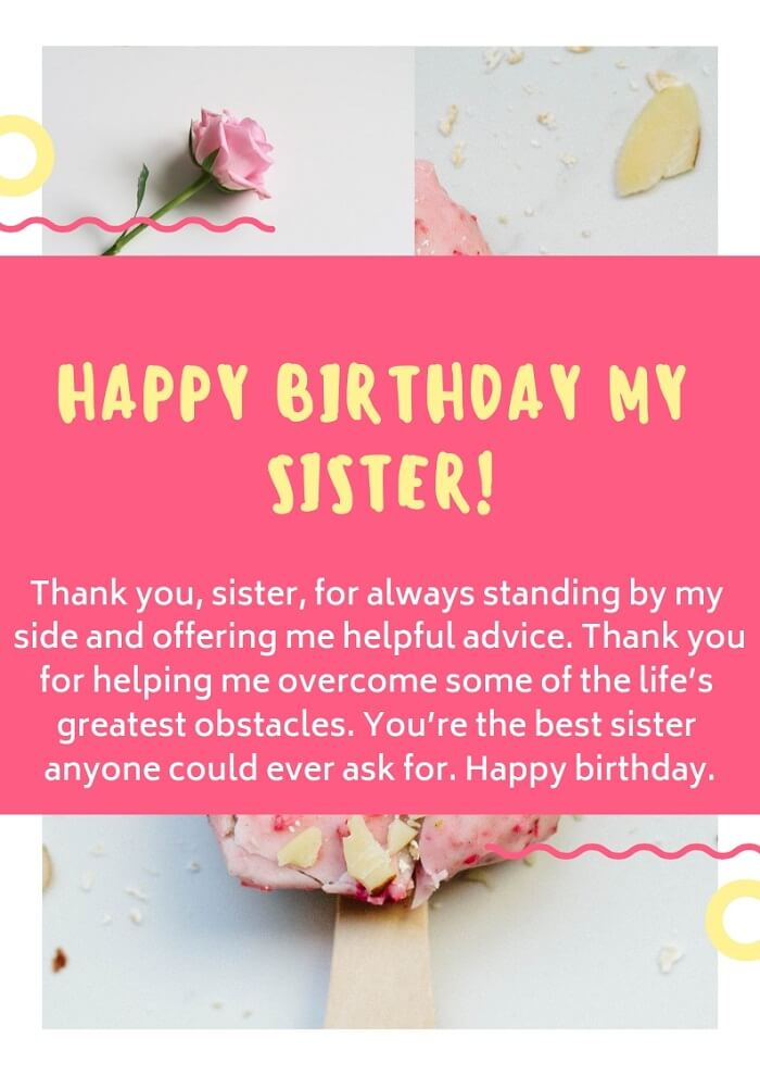 444 Best Happy Birthday Sister Status Wishes Images Quotes