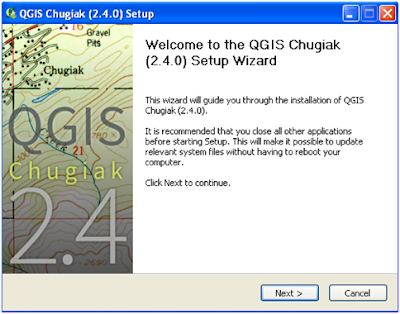 QGIS Installation window