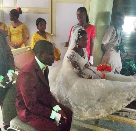 Nigerian Lady Involved In Accident A Day To Her Wedding, Gets Married On Hospital Bed