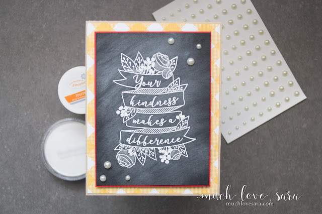 Create easy and beautiful chalkboard art using card stock, stamps, and a PanPastel.  Featuring the Fun Stampers Journey Your Kindness ATS, available exclusively as a Bloom Benefit (a free gift with a purchase of $75 or more).