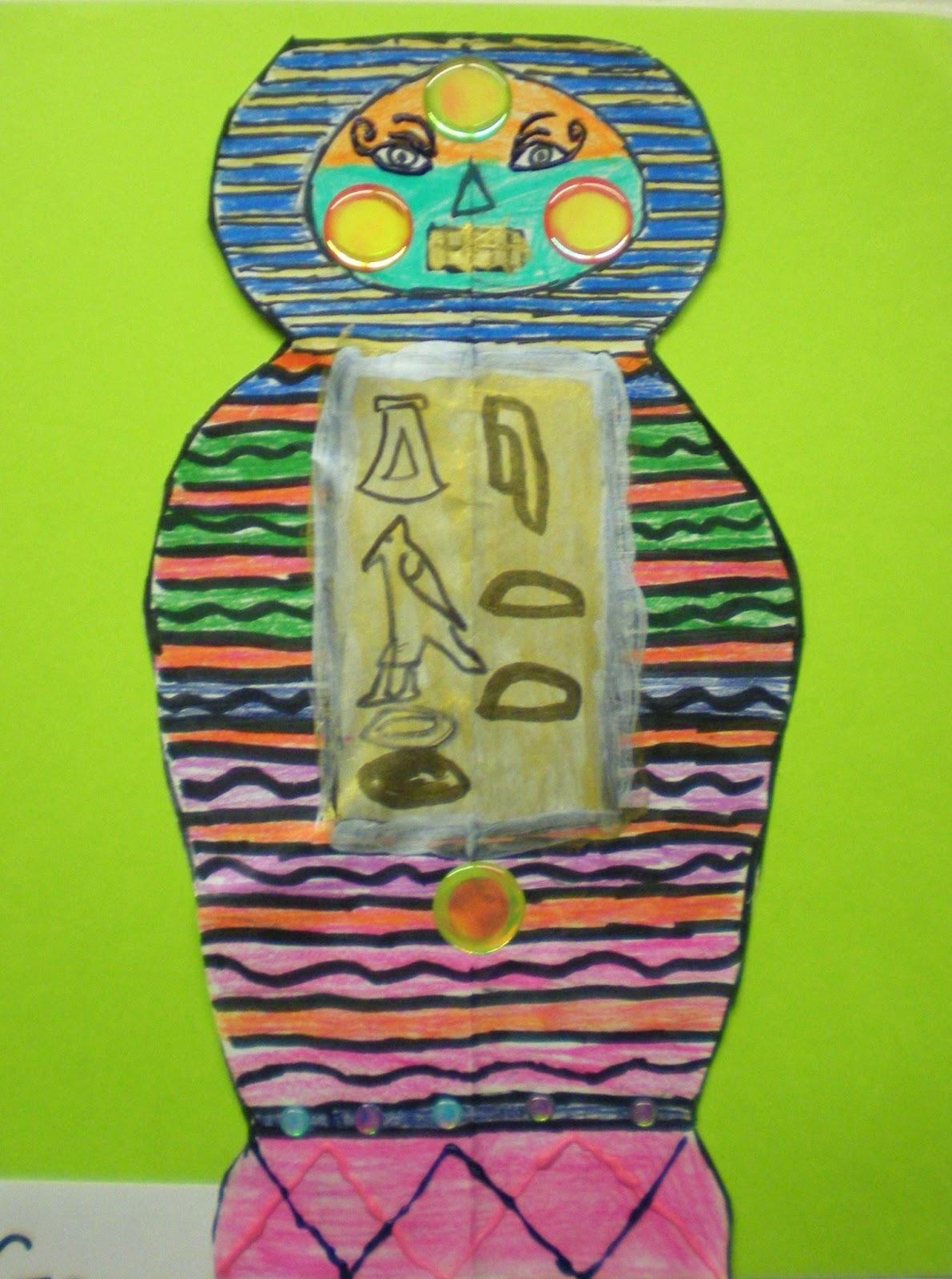 Miss M S Art Room 6th Grade Egyptian Sarcophagi