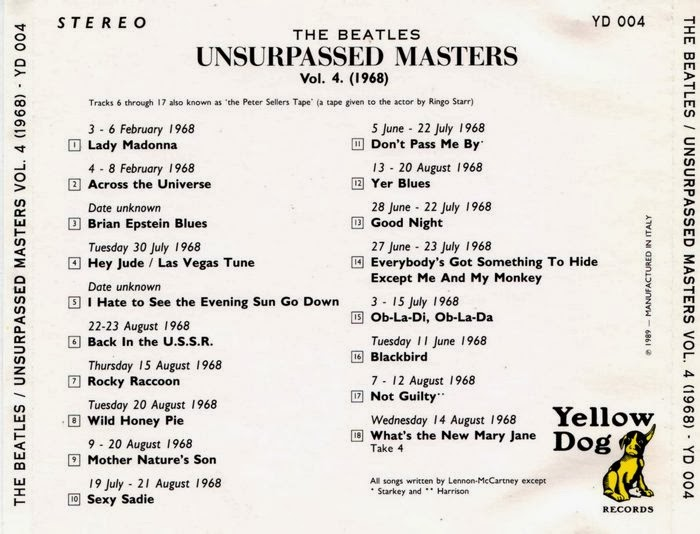 Rock Anthology: The Beatles - Unsurpassed Masters vol 4 (1968) 1989