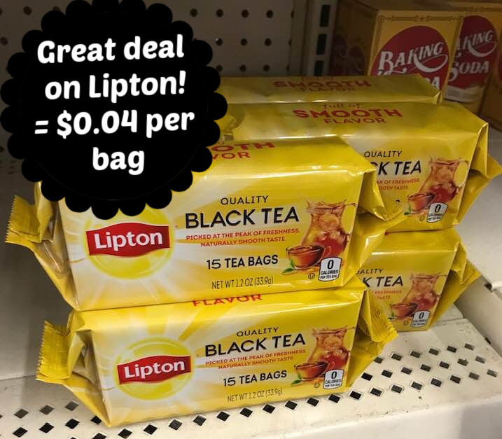 image relating to Lipton Tea Printable Coupons identified as Lipton Tea Baggage \u003d $0.04 for every bag at Greenback Tree with coupon