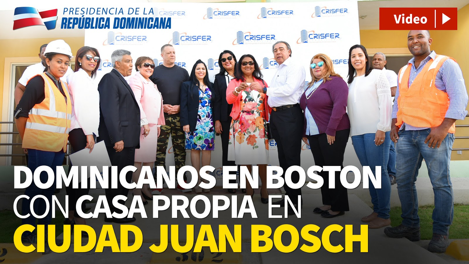 VIDEO: Dominicanos residentes en Boston adquieren 45 viviendas en Ciudad Juan Bosch