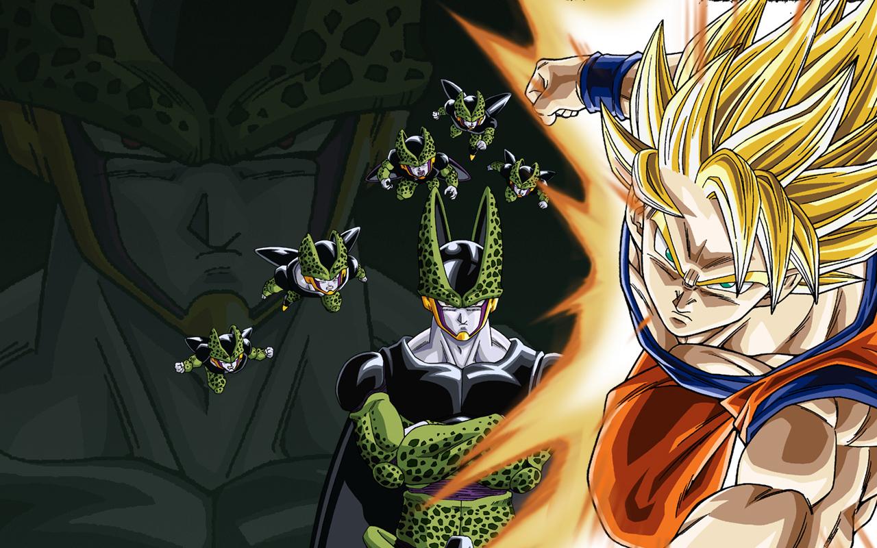 Imagenes De Dragon Ball Z Wallpaper Goku Ssj2 Con Cell